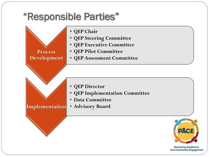 """""""Responsible Parties"""""""