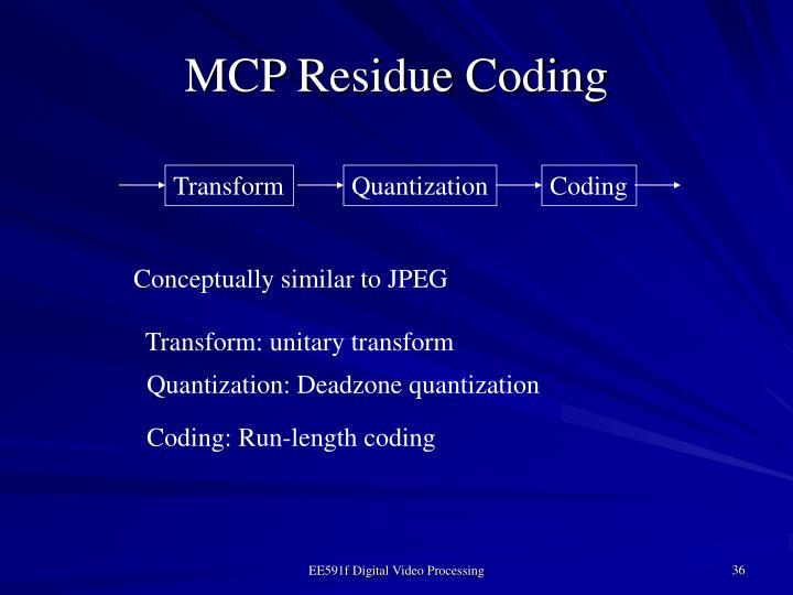 MCP Residue Coding