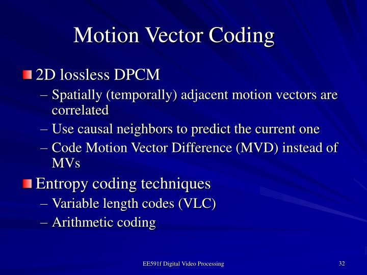 Motion Vector Coding