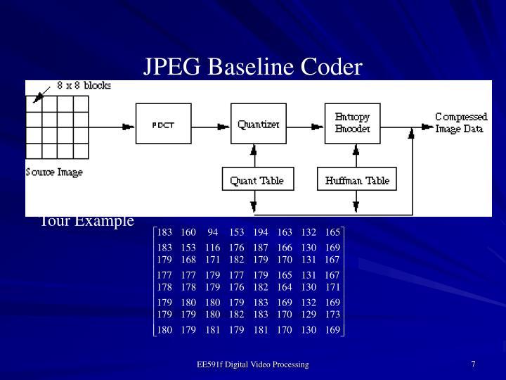 JPEG Baseline Coder