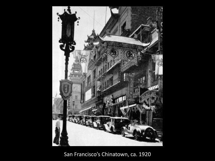 San Francisco's Chinatown, ca. 1920