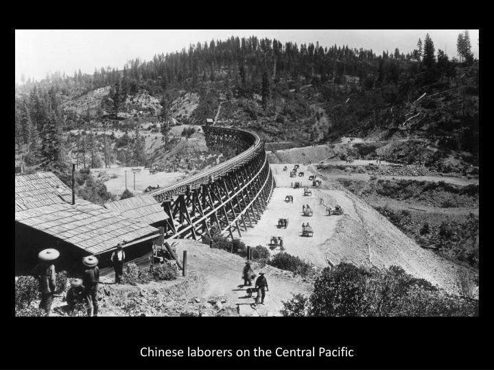 Chinese laborers on the Central Pacific