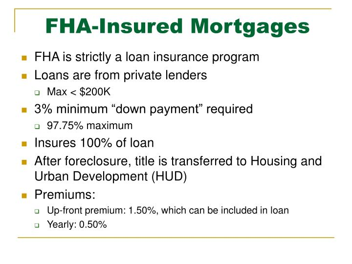 FHA-Insured Mortgages