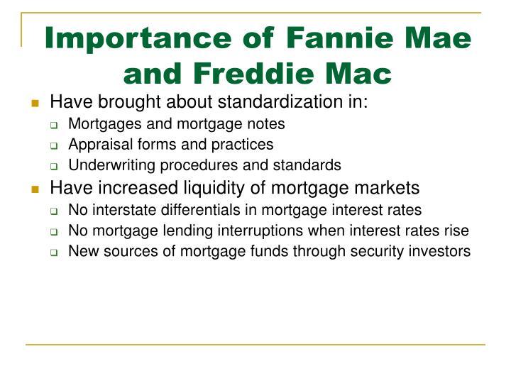 Importance of Fannie Mae