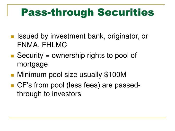 Pass-through Securities