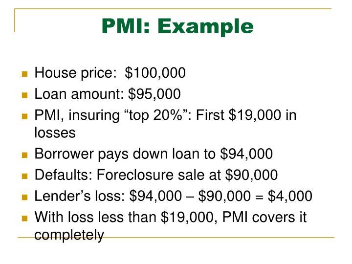 PMI: Example