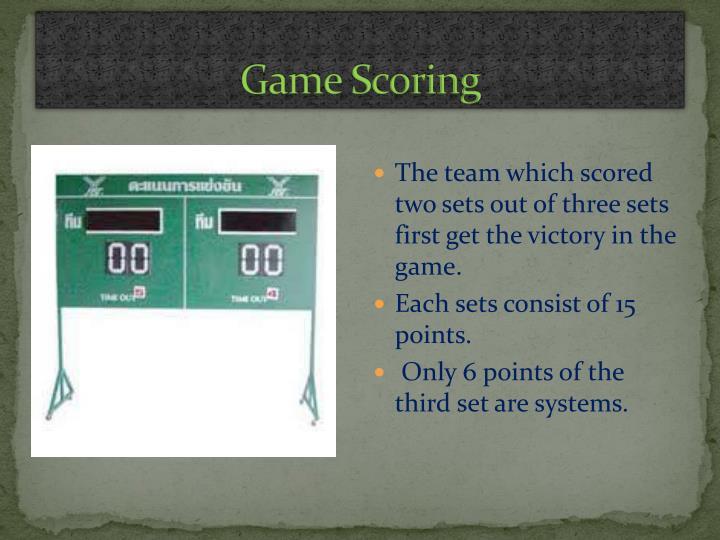 Game Scoring