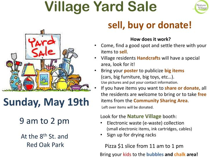 Village Yard Sale
