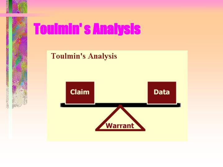 Toulmin' s Analysis