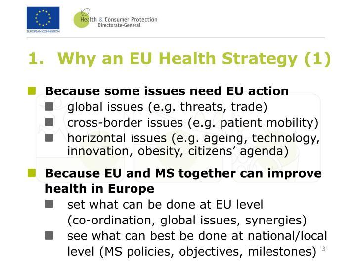 Why an EU Health Strategy (1)