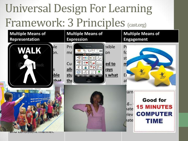 Universal Design For Learning Framework: 3 Principles
