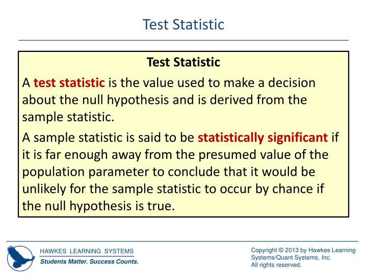Test Statistic