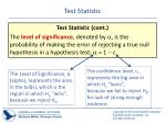 test statistic1