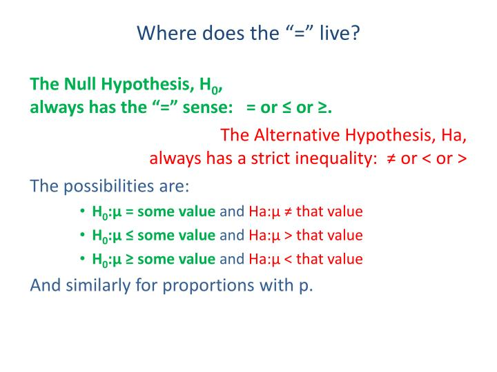 """Where does the """"="""" live?"""