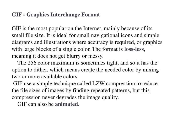 GIF - Graphics Interchange Format