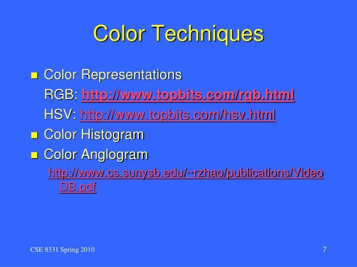 Color Techniques