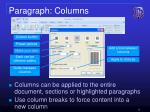 paragraph columns