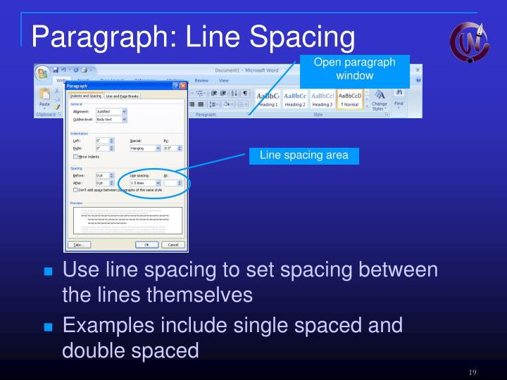 Paragraph: Line Spacing