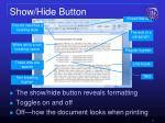 show hide button