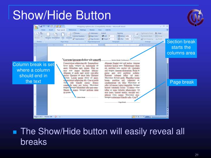 Show/Hide Button