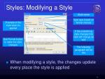 styles modifying a style