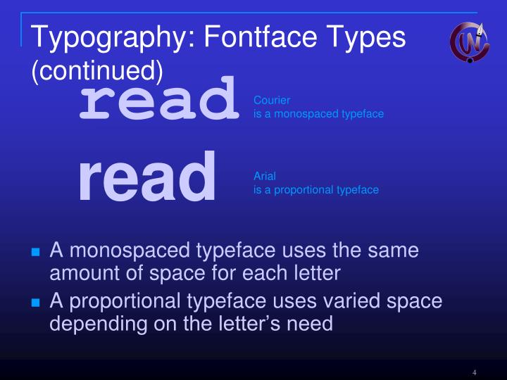 Typography: Fontface Types