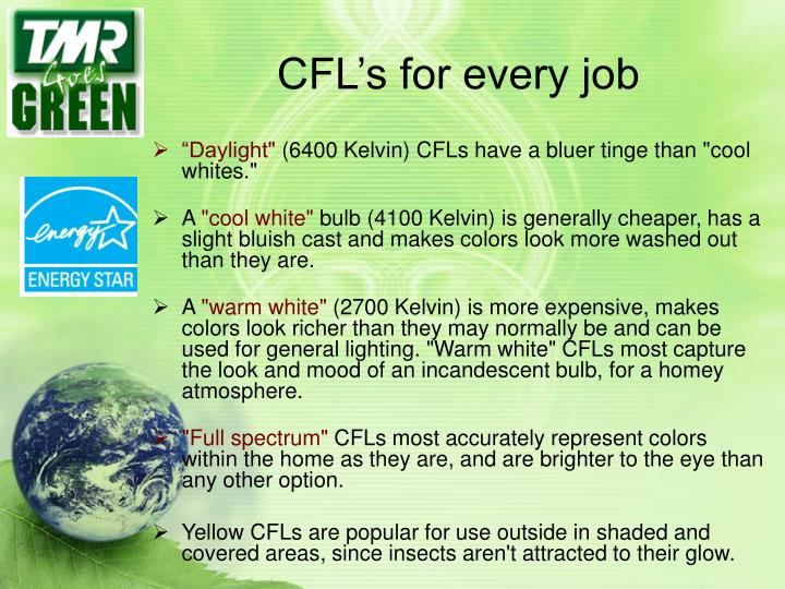 CFL's for every job