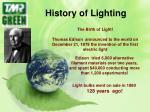 history of lighting