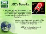 led s benefits
