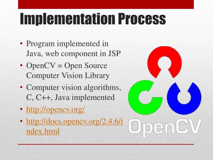 Program implemented in Java, web component in JSP