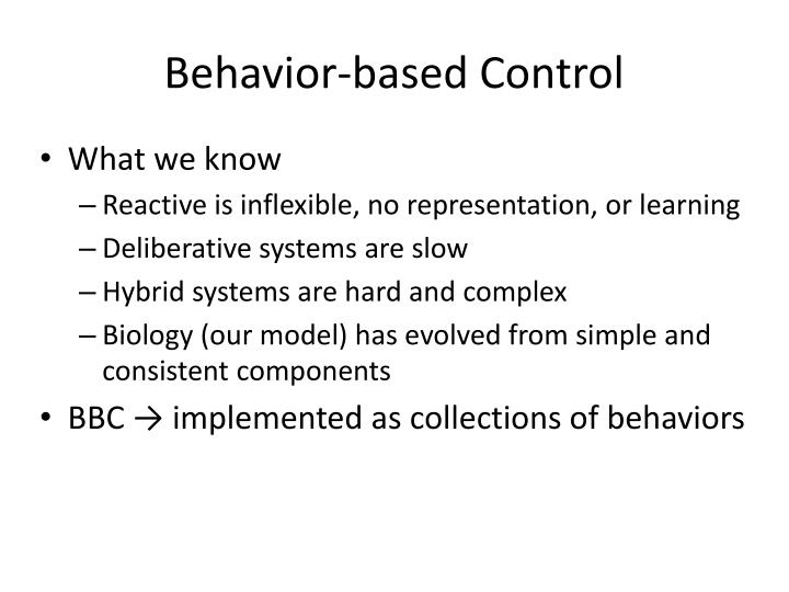 Behavior-based Control