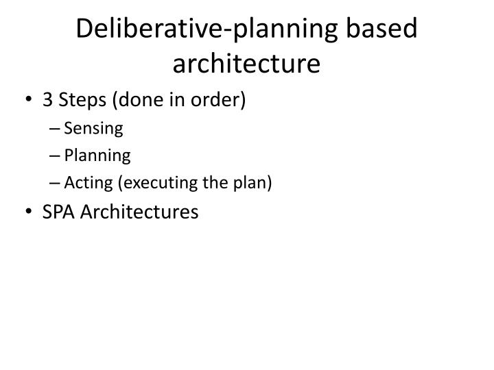 Deliberative-planning based architecture