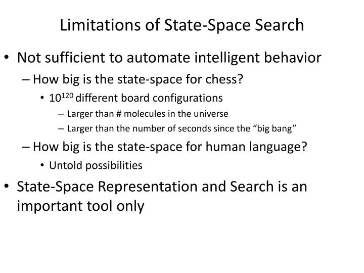 Limitations of State-Space Search