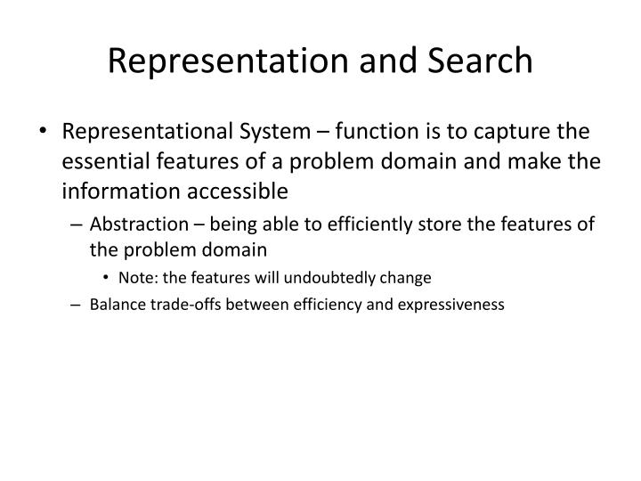 Representation and Search