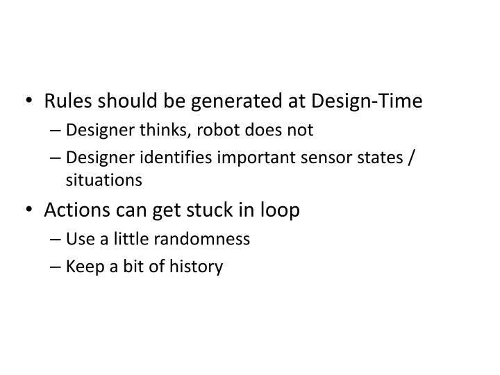 Rules should be generated at Design-Time
