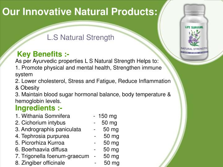 Our Innovative Natural Products: