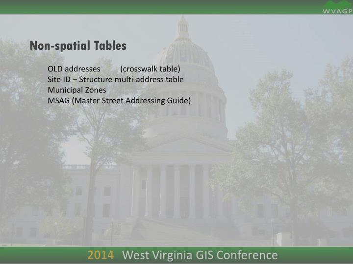 Non-spatial Tables