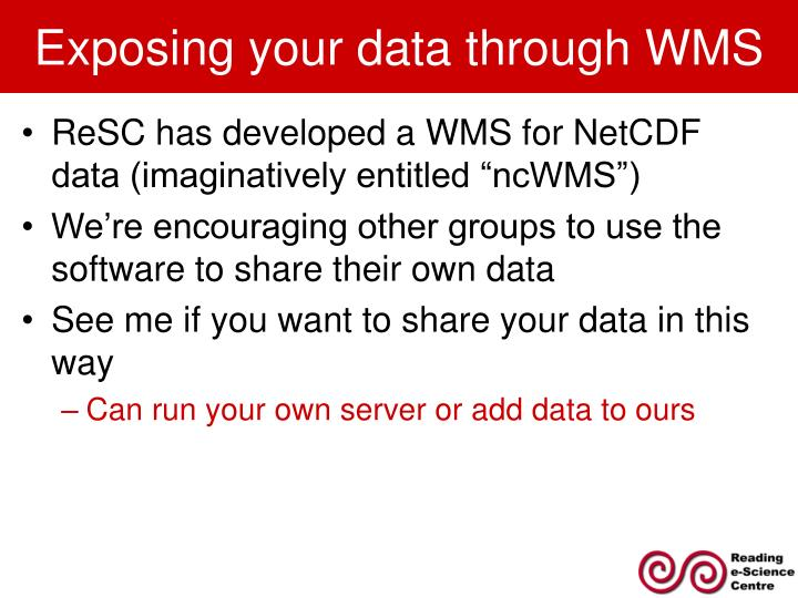 Exposing your data through WMS