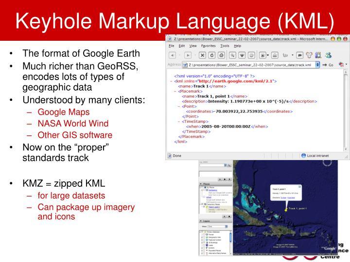 Keyhole Markup Language (KML)