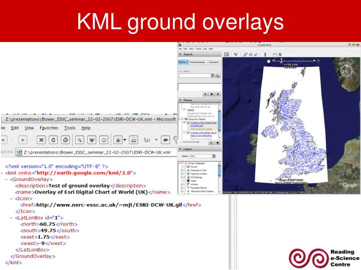 KML ground overlays