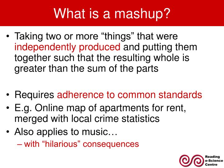 What is a mashup?