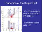 properties of the kuiper belt
