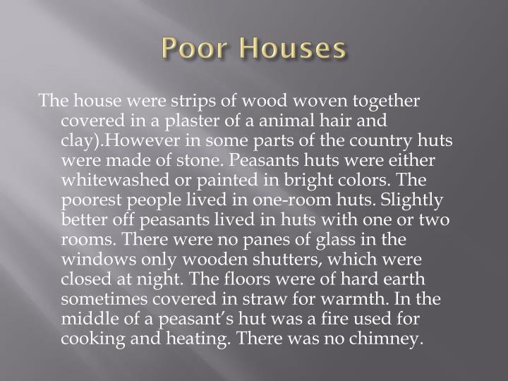 Poor Houses