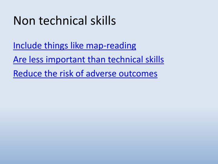 Non technical skills