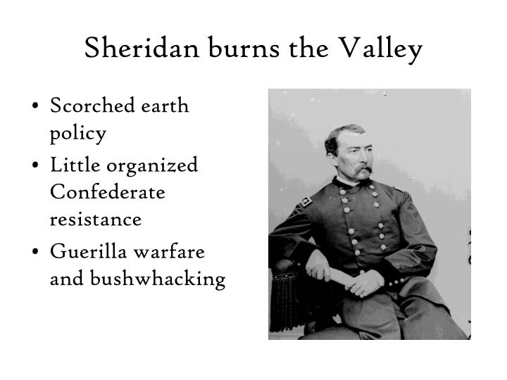 Sheridan burns the Valley