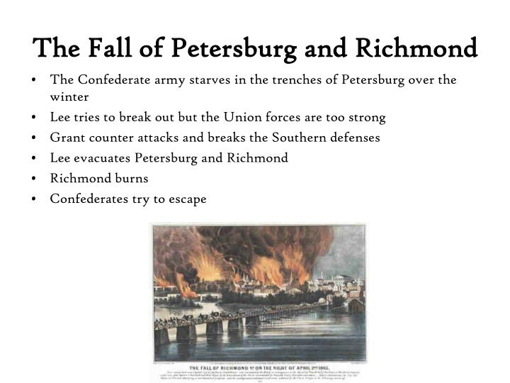 The Fall of Petersburg and Richmond