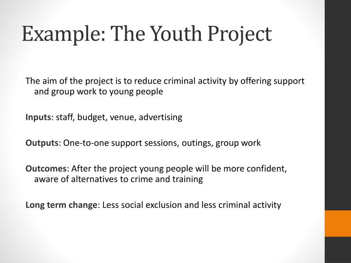 Example: The Youth Project