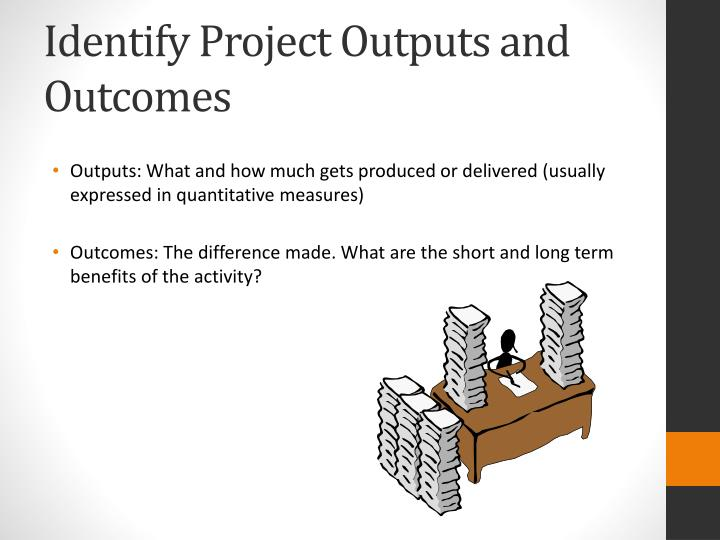 Identify Project Outputs and Outcomes