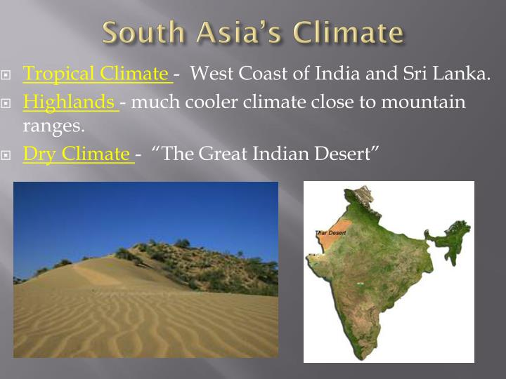 South Asia's Climate