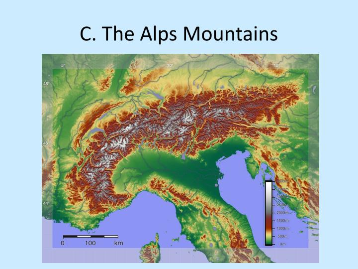 C. The Alps Mountains